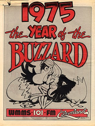 WMMS - Image: 1975 Year of the Buzzard WMMS print ad