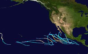 Riepilogo della stagione degli uragani del Pacifico 1987 map.png