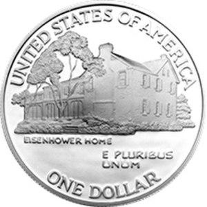 Eisenhower commemorative dollar - Reverse