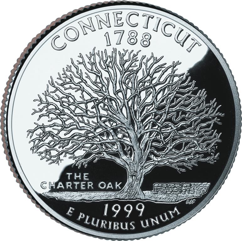 Connecticut quarter dollar coin