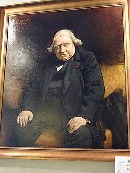 19 Tréguier Portrait d'Ernest Renan -dans sa maison-
