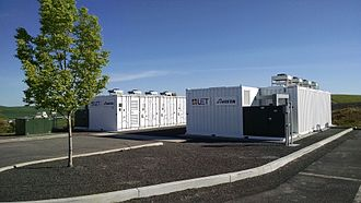 Vanadium redox battery - 1 MW 4 MWh containerized vanadium flow battery owned by Avista Utilities and manufactured by UniEnergy Technologies
