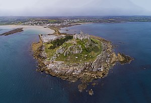 St Michael's Mount - aerial st michaels mount england 2017