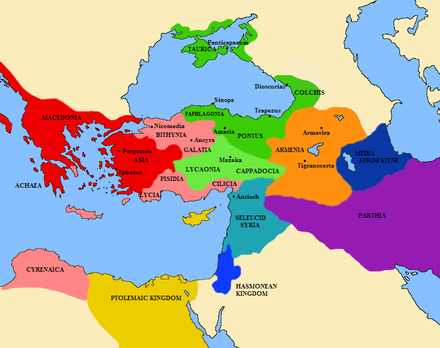 Hasmonoen Kingdom at its greatest extent under Salome Alexandra - History of Palestine