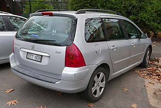 Peugeot 307 - Pre-facelift Peugeot 307 SW (station wagon/estate)