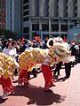 2008 Olympic Torch Relay in SF - Lion dance 30.JPG