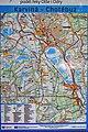 2012 Karwina, Łąki, Mapa szlaku rowerowego Racibórz - Krzyżanowice - Chotěbuz (02).jpg