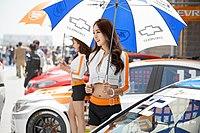 2013 CJ 슈퍼레이스 개막전 쉐보레 레이싱팀 레이싱모델 은빈.jpg