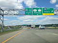 2014-08-28 15 29 31 View along the interchange connecting the New York Thruway (Interstate 87) to Interstate 84 and New York State Routes 300 and 17K in Newburgh, New York.JPG