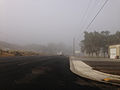 2014-09-28 07 57 18 Fog on Nevada State Route 227 (South 5th Street) near South 9th Street in Elko, Nevada.JPG