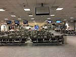 2015-04-14 00 25 05 View of the outer end of Concourse D at Salt Lake City International Airport, Utah.jpg
