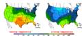 2016-04-11 Color Max-min Temperature Map NOAA.png