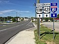 2017-05-17 09 57 58 View south along U.S. Route 11W and north along U.S. Route 421 (Euclid Avenue) at U.S. Route 11E, U.S. Route 19 and Virginia State Route 381 (Commonwealth Avenue) in Bristol, Virginia.jpg