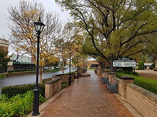 Mittagong Town in New South Wales, Australia