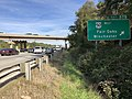 2018-10-19 14 59 18 View east along Interstate 66 at Exit 57B (U.S. Route 50 WEST, Fair Oaks, Winchester) in Fair Oaks, Fairfax County, Virginia.jpg