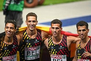 Belgian mens 4 × 400 metres relay team