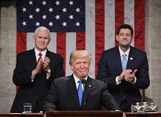 Paul Ryan - Ryan with President Trump and Vice President Mike Pence, January 2018