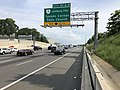 2019-05-29 17 21 48 View south along the outer loop of the Capital Beltway (Interstate 495) at Exit 47 (Virginia State Route 7-Leesburg Pike, Tysons Corner, Falls Church) in Tysons Corner, Fairfax County, Virginia.jpg