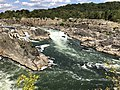 2019-09-07 15 13 54 View east-northeast towards the Great Falls of the Potomac River from Overlook 1 about 100 feet downstream of the falls within Great Falls Park in Great Falls, Fairfax County, Virginia.jpg