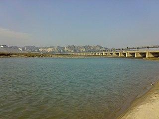Sutlej river in India