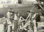 2 Squadron RAAF Mitchell crew at Hughes NT prior to takeoff 1944 AWM NWA0665.jpg