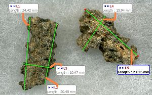 Fulgurite - metric attributes