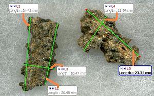 Fulgurite - metric attributes