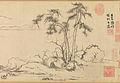 3c Zhao Mengfu Twin Pines, Level Distance, ca. 1310 (26.8 x 107.5 cm);The Metropolitan Museum of Art, New York.jpg