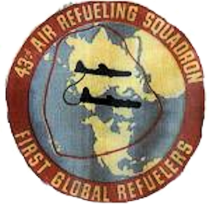 43d Air Refueling Squadron - KB-29M era 43d ARS patch