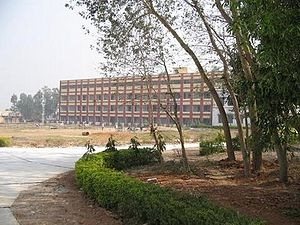 Bankura Unnayani Institute of Engineering - Road to the academic area of BUIE