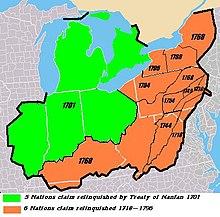 Iroquois Confederacy Map Iroquois - Wikipedia