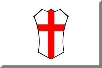 1908 Italian Football Championship - Image: 600px Bianco con croce sottile Rossa