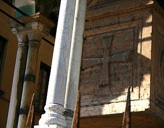 Franciscus Accursius - Gravestone for Franciscus Accursius in Bologna, Italy.