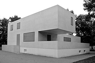 Bauhaus and its Sites in Weimar, Dessau and Bernau - Structure built in 2014 in the form of the destroyed director's house (the 'Gropius House')