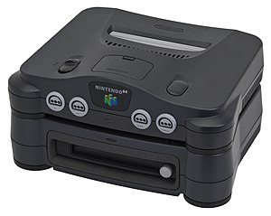 64DD - Nintendo 64, with 64DD installed