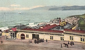 Sutro Baths - Sutro Railroad, electric cars for Golden Gate Park and downtown San Francisco (1907)