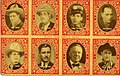 8 stamp images of Motion Picture actors, Jack Hoxie, Leo Maloney, Eddie Cantor, Lon Chaney, Hoot... (NBY 7557).jpg