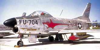 97th Flying Training Squadron - Image: 97th Fighter Interceptor Squadron North American F 86L 55 NA Sabre 53 704
