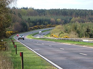 A380 road - Image: A380 on Haldon