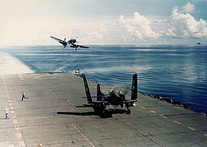 AD-3 VA-195 landing on USS Boxer (CV-21) c1950.jpeg