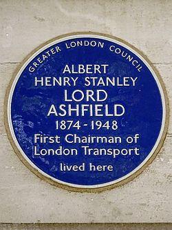 Photo of Albert Henry Stanley blue plaque