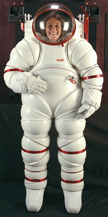 NASA developed this hard-suit in the 1980s at the Ames Research Center AX-5-spacesuit.jpg