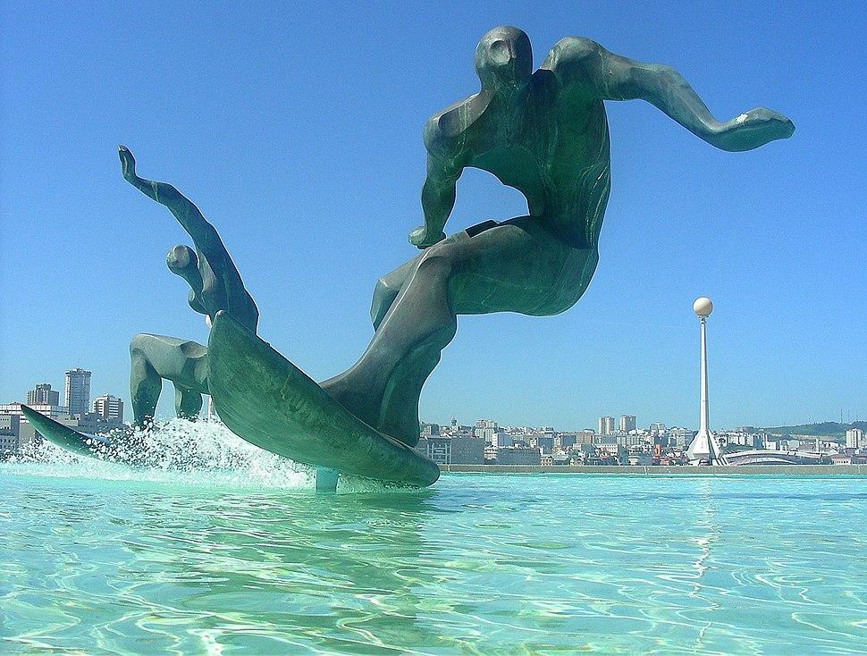 A Coruña, O Orzán, surf