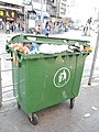A Green colored large of waste container in Yuen Long.jpg
