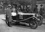 A Salmson típusú gépkocsiban Szmick Viktor, a Magyar Túraút verseny résztvevője. Fortepan 12417.jpg