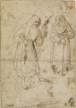 A Woman Spinning and an Old Woman by Jheronimus Bosch 01.jpg