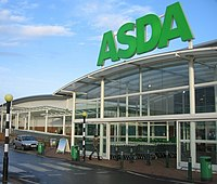 Large Asda sign
