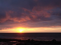 A sunset from Aberystwyth. All Natural, No photo-shopping - panoramio.jpg