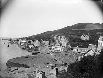 Aberdyfi - A view of Aberdyfi from Penhelyg Rock circa 1885