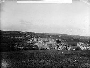 A view of Newcastle Emlyn from Cae Pendre